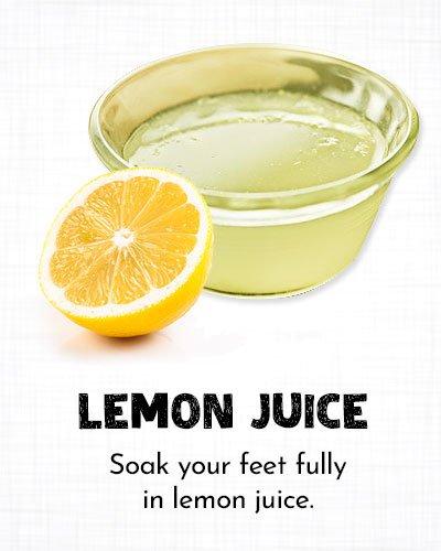 Lemon Juice for Dry Cracked Feet
