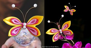 Satin Ribbon Butterfly For Home Decoration