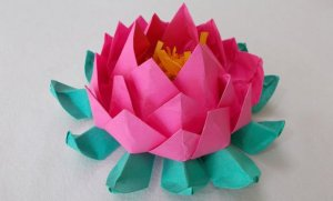 DIY Origami Lotus for Home Decorations