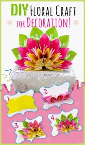 DIY floral craft for home decoration