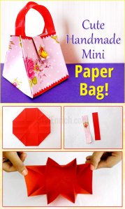 How to make mini paper handbag