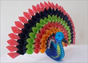 Paper-peacock-craft-room-decor