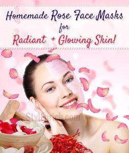 Homemade rose face masks