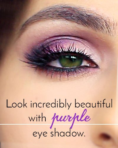 Purple and Lilac Makeup for Green Eyes