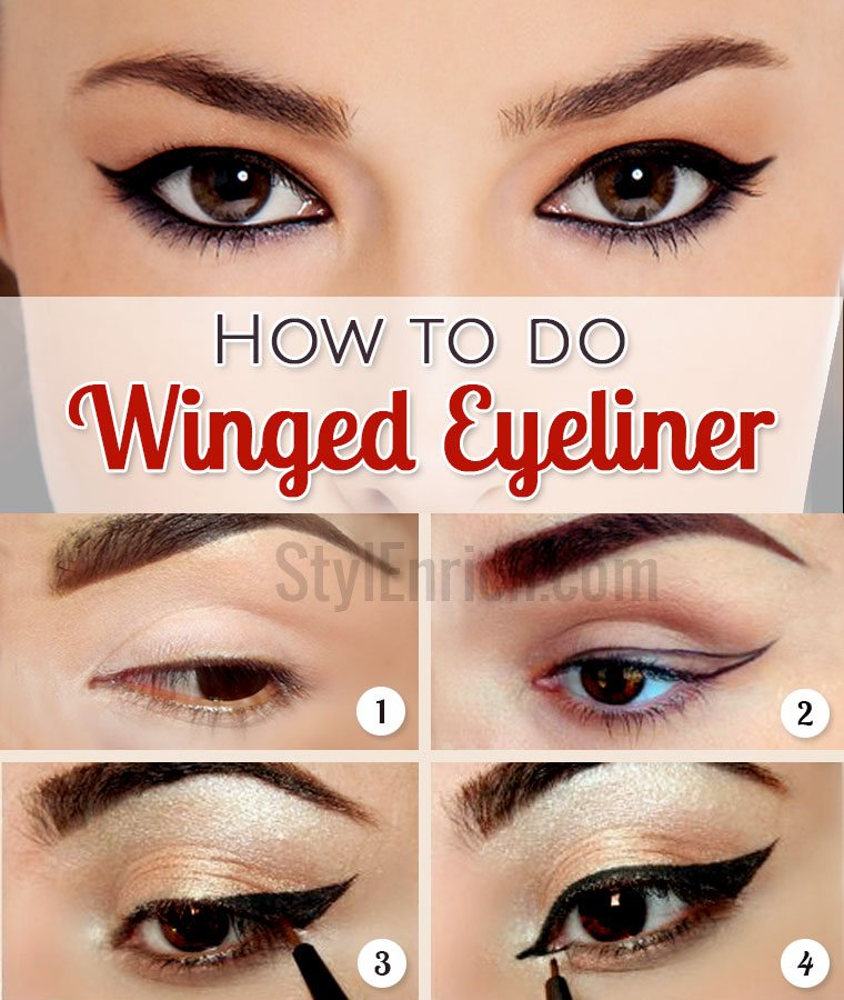 How to Do Winged Eyeliner : Tutorial For Perfect Eye Makeup