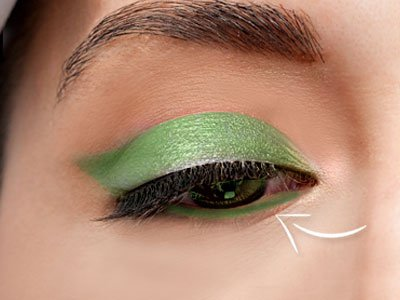 Green Shadow For Lower Eye