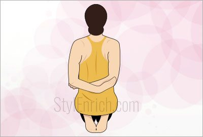 Back hand pose exercise