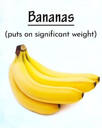 Bananas To Gain Weight