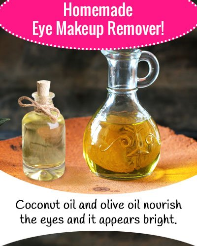 Coconut Oil and Olive Oil Eye Makeup Remover