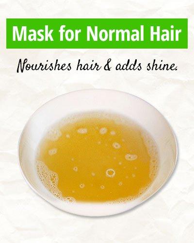 Homemade Mask for Normal Hair