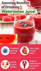 Water melon juice benefits for skin and health