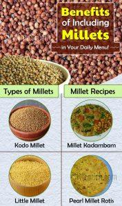 Benefits of including millets