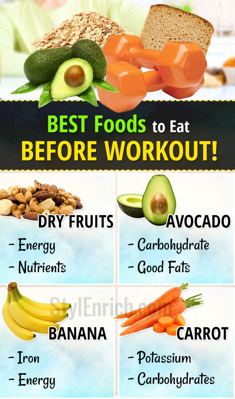 What food to eat before a workout
