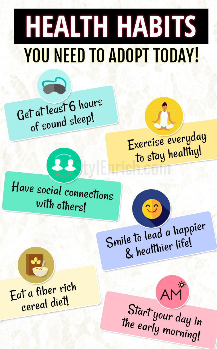 good health habits that you need to adopt today