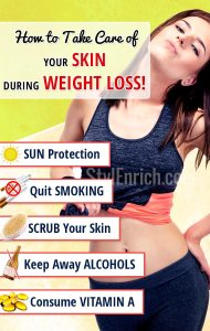 Skin care during weight loss