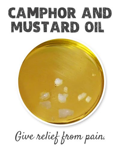 Camphor and Mustard Oil for Joint Pain