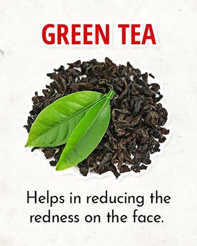 Green Tea to Overcome Facial Redness