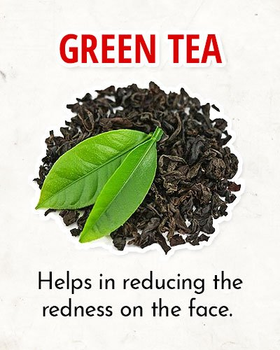 Green Tea to Overcome Facial Redness