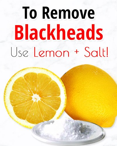 Lemon Salt Face Scrub for Blackheads On Chin
