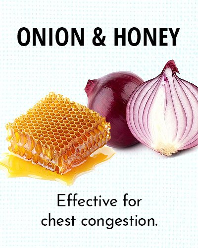 Onion and Honey for Chest Congestion