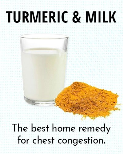 Turmeric and Milk for Chest Congestion