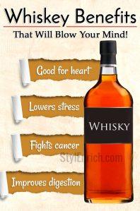 Benefits of whiskey