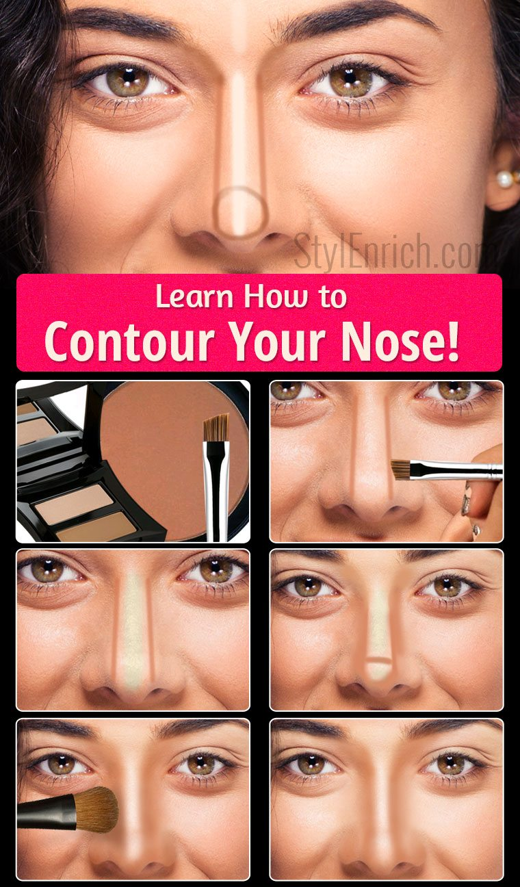 Learn how to contour your nose step by step guide learn how to contour your nose baditri Gallery