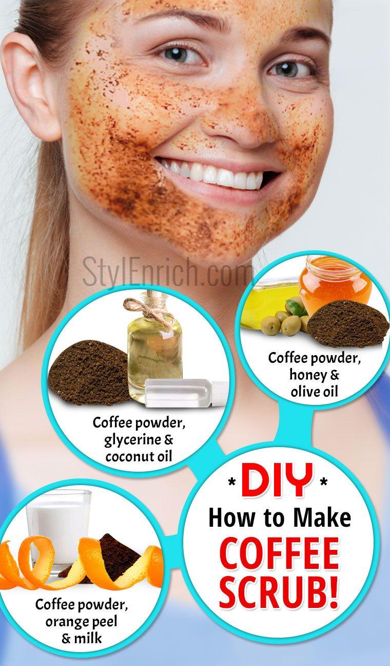How to make coffee scrub