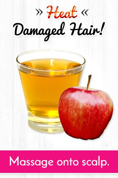 Apple Cider Vinegar Mask to Repair Heat Damaged Hair
