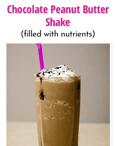 Chocolate Peanut Butter Weight Gain Shakes