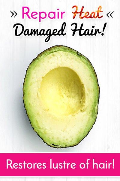 Nutritious Avocado to Repair Heat Damaged Hair