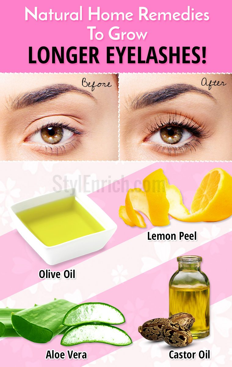 Effective home remedies to grow longer eyelashes naturally