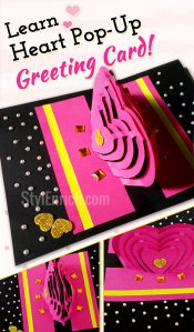 Valentines day popup card