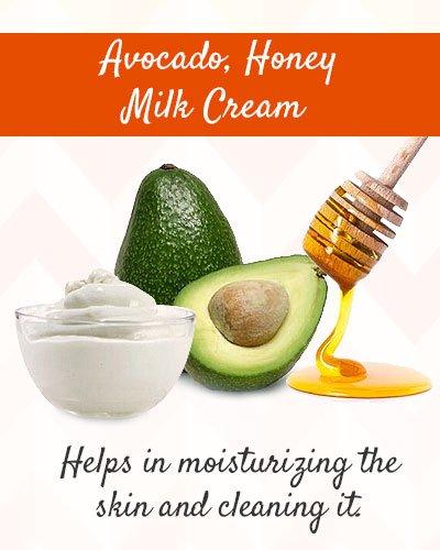Avocado, Honey and Milk Cream to Tighten Skin on Face