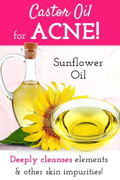 Castor Oil with Sunflower Oil For Acne