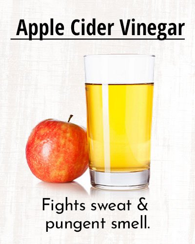 Apple Cider Vinegar To Stay Sweat Free