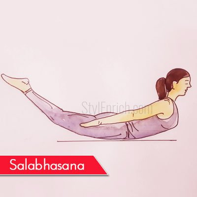 Salabhasana to Get Rid Of Belly Fat