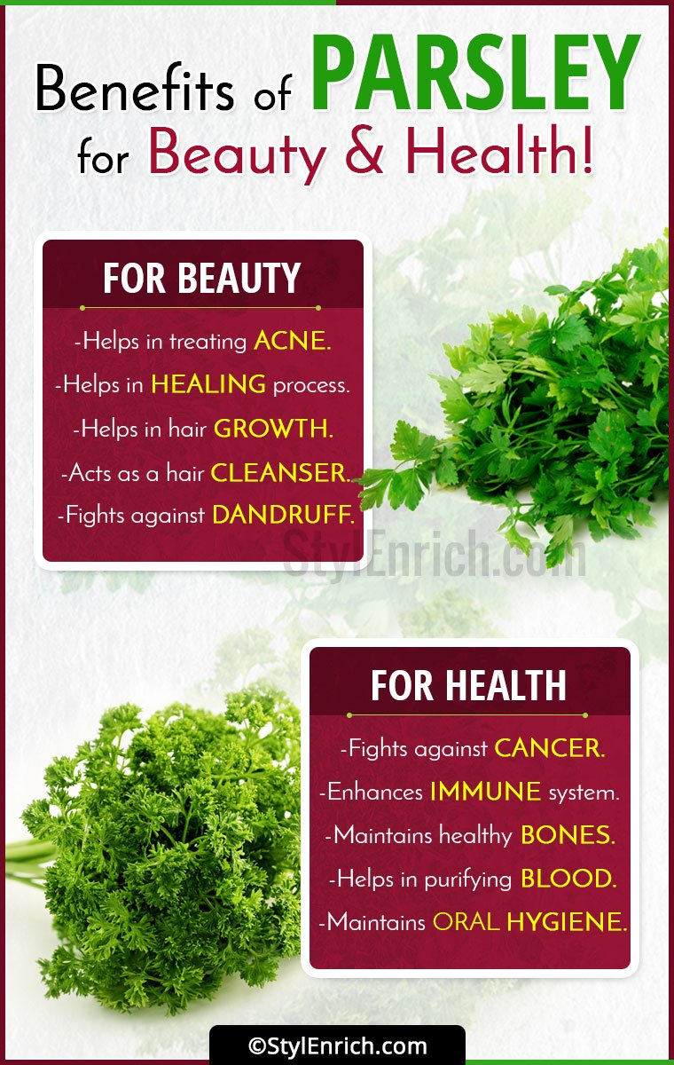 Benefits Of Parsley For Beauty And Health!