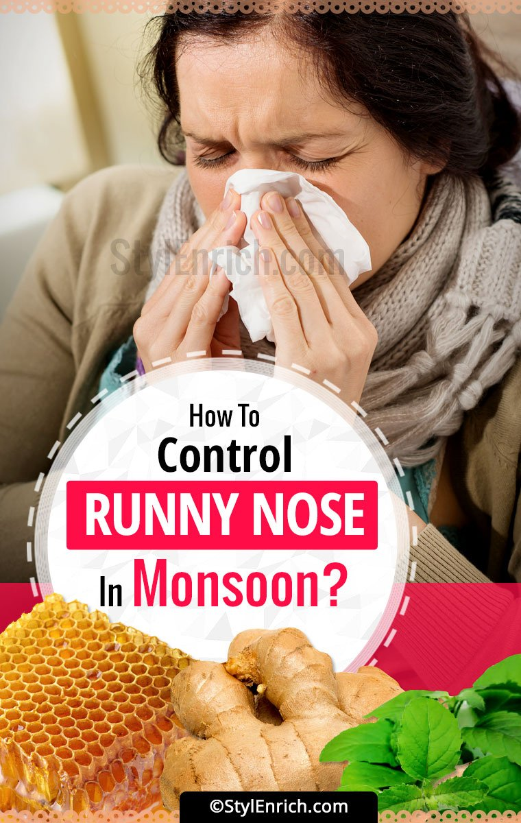 How To Get Rid Of A Runny Nose?