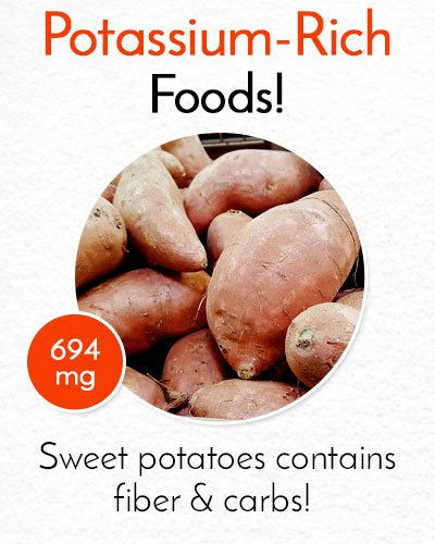 Potassium Rich Sweet Potatoes