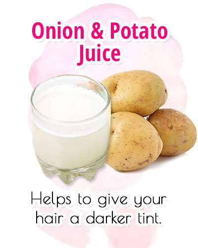 Onion and Potato For Premature Gray Hair