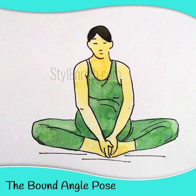 The bound angle yoga for pregnant women