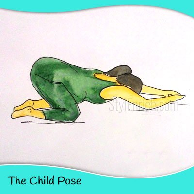 The child yoga pose for pregnant women