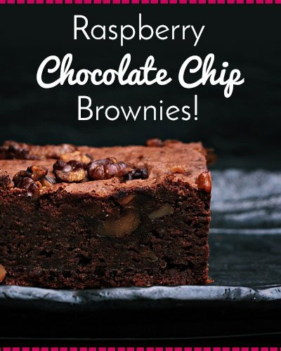 Raspberry Chocolate Chip Brownies