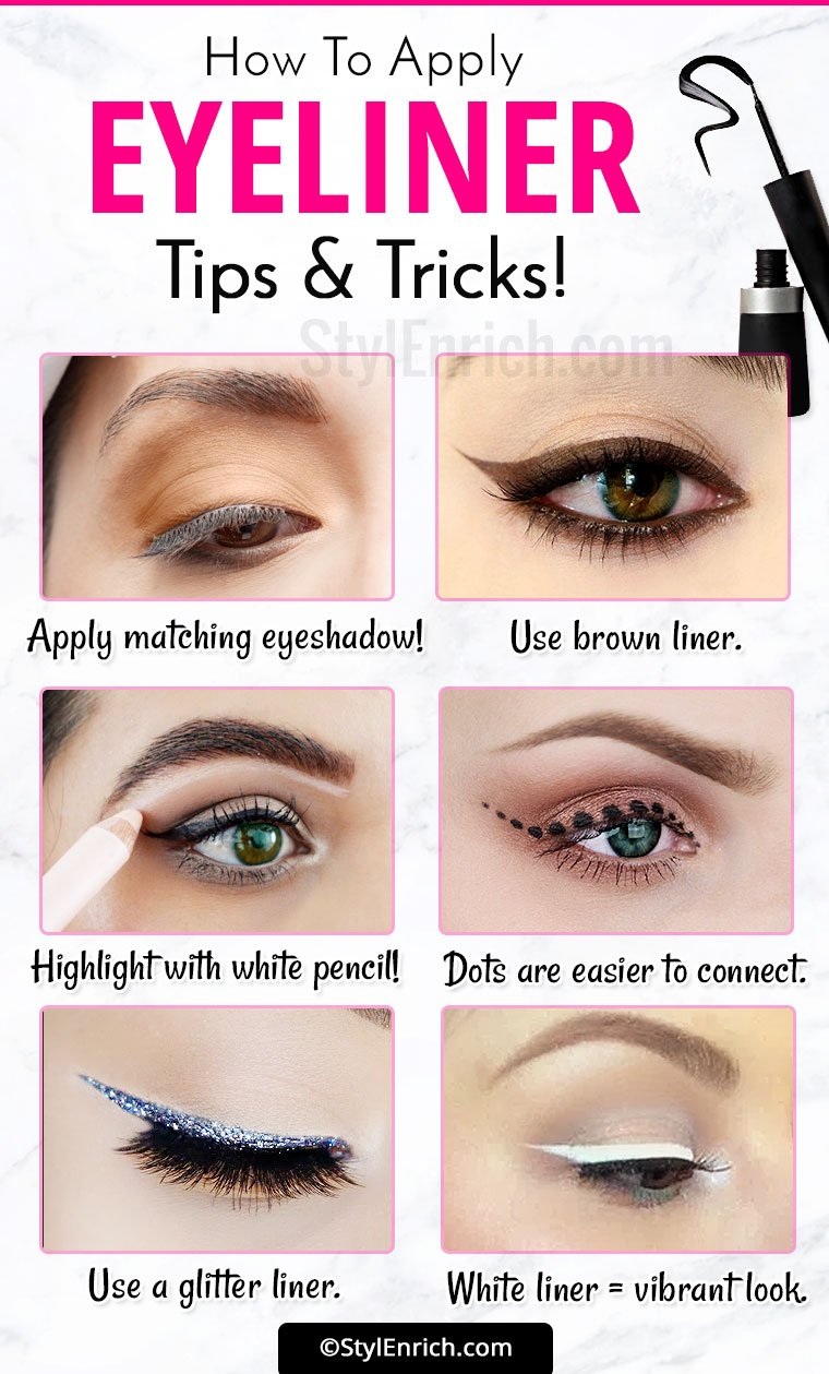 Eyeliner Tricks : How To Apply Eyeliner Correctly for ...