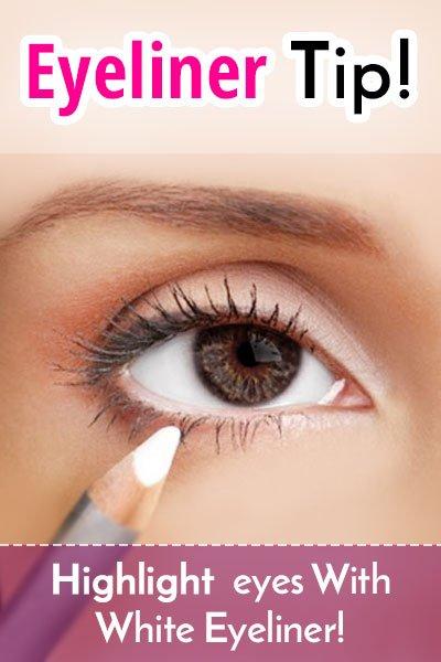 Highlighting With White Eyeliner