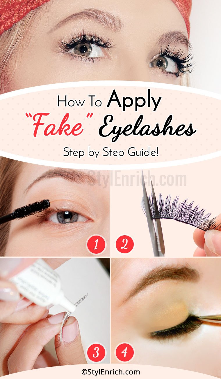 How To Apply Fake Eyelashes Step By Step Guide