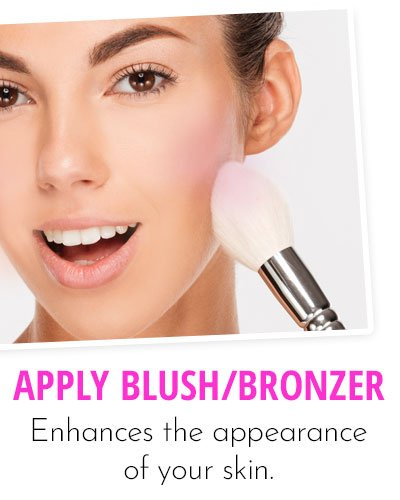 Application Of Blush Or Bronzer