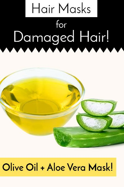 Olive Oil And Aloe Vera Gel Oil Hair Mask