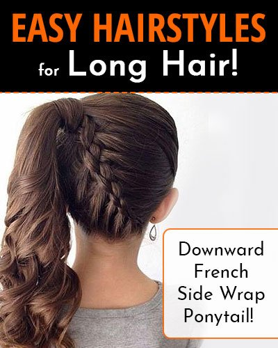 Downward French Side Wrap Ponytail